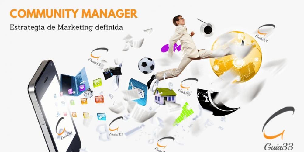 Community Manager unido a marketing digital con Guia33
