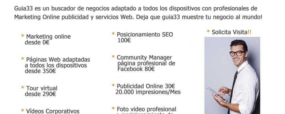 Servicios Guia33 en promoción